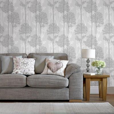 Graham & Brown Gray Eternal Wallpaper-33-287 - The Home Depot