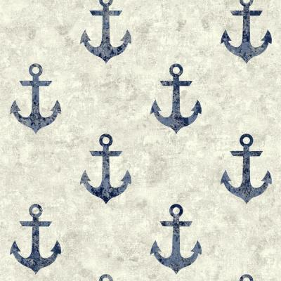 York Wallcoverings Nautical Living Anchor Away Wallpaper-NY4915 - The Home Depot