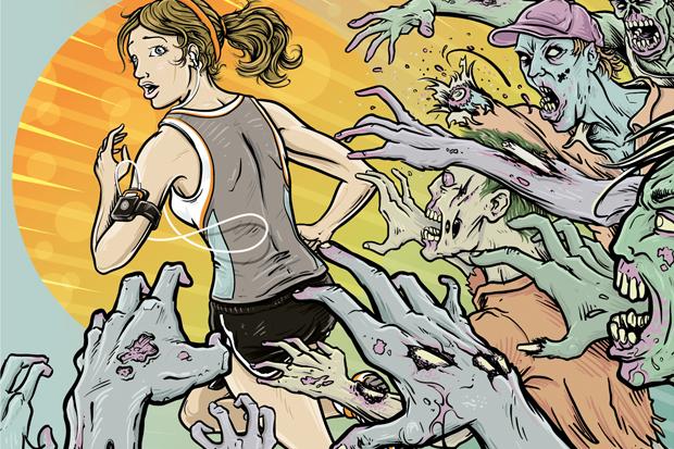 Výsledek obrázku pro running from zombies