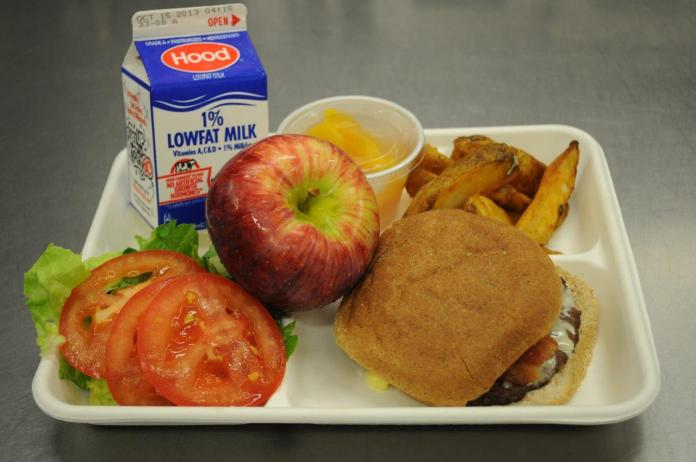 School lunch picture from Huffington Post