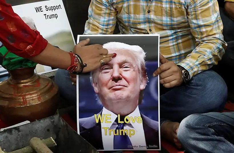 Image result for hindu sena members love trump