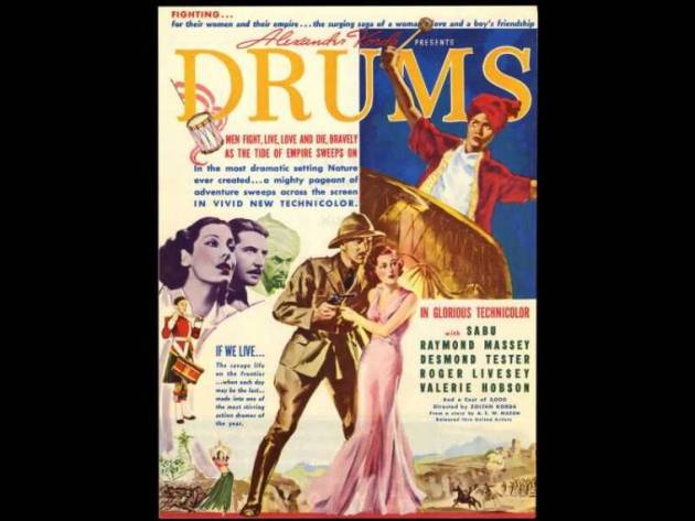 the drums, myrna loy, british empire cinema, indian history