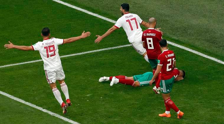 FIFA World Cup 2018: Own-goal earns Iran 1-0 win over Morocco | Fifa News, The Indian Express