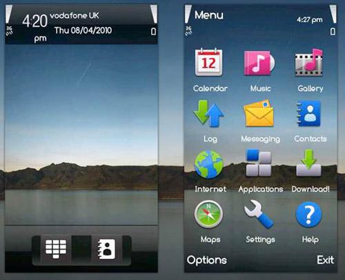 ipadtheme Free theme of the day: iPad on a Symbian S60 touchscreen  phone!