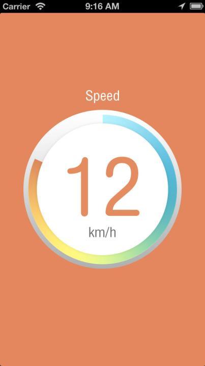 La limite de vitesse est quasiment atteinte