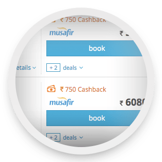 ixigo cashback Rs 750 step 1