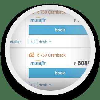 ixigo cashback Rs 750 step 1