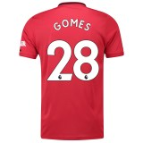 Manchester United Home Shirt 2019 - 20 with Gomes 28