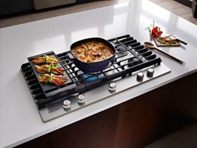 Kitchenaid 5 Burner Gas Grill Removable Griddle Inside Design