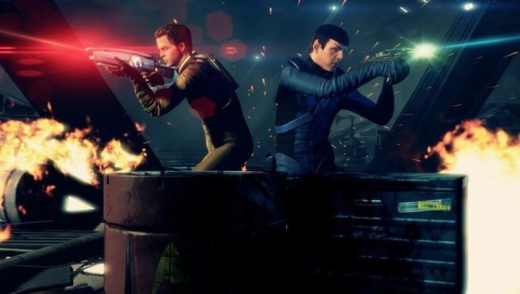 Star Trek game Kirk and Spock shuttlebay