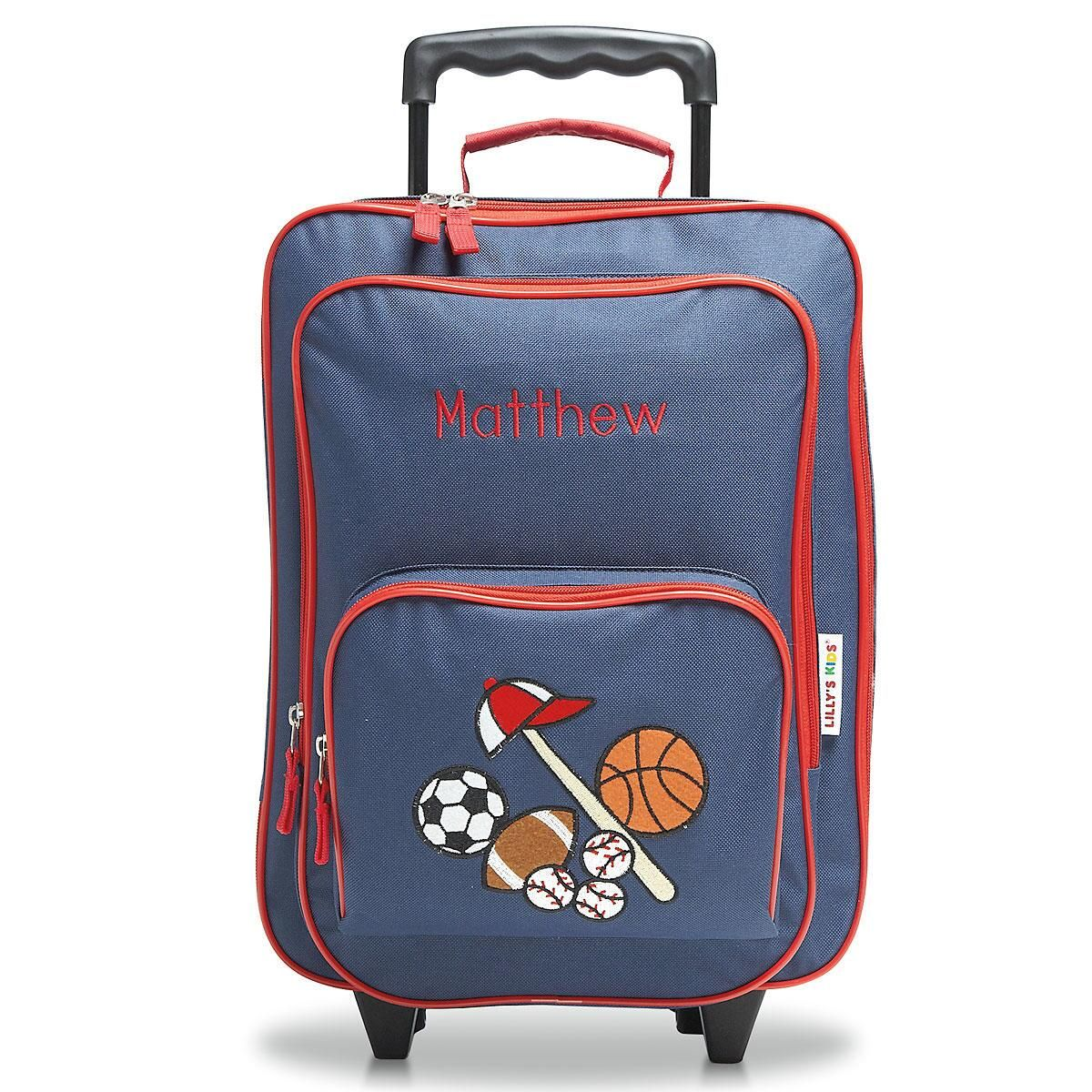 Double All Sports Rolling Luggage Sports Rolling Luggage Lillian Vernon Kids Rolling Luggage Girls Kids Rolling Luggage baby Kids Rolling Luggage