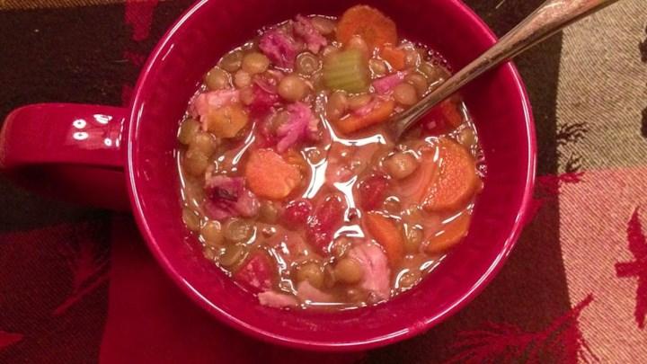 Paleo Jana's Pressure Cooker Lentil Ham Soup