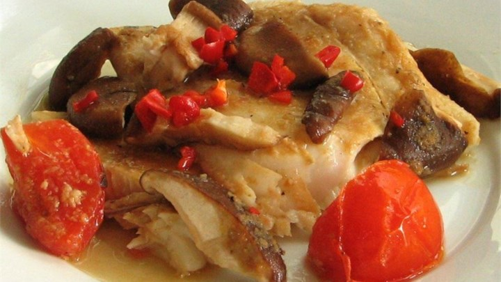 Paleo Chinese Steamed White Fish Fillet with Tofu (Cantonese Style)