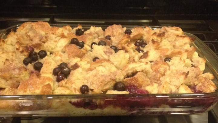 Paleo Beth's Blueberry Bread Pudding