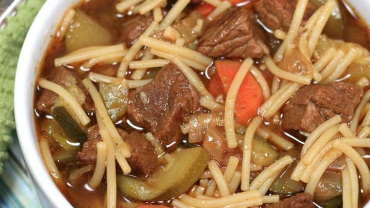 Paleo Peruvian Beef Noodle Soup (Sopa Criolla)