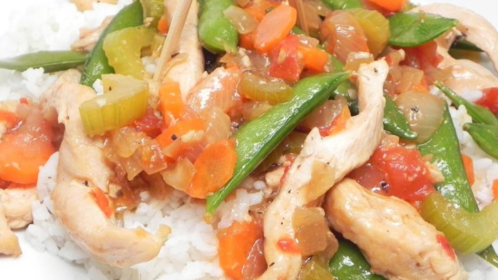 Paleo Chicken with Chicharo (Snow Peas)