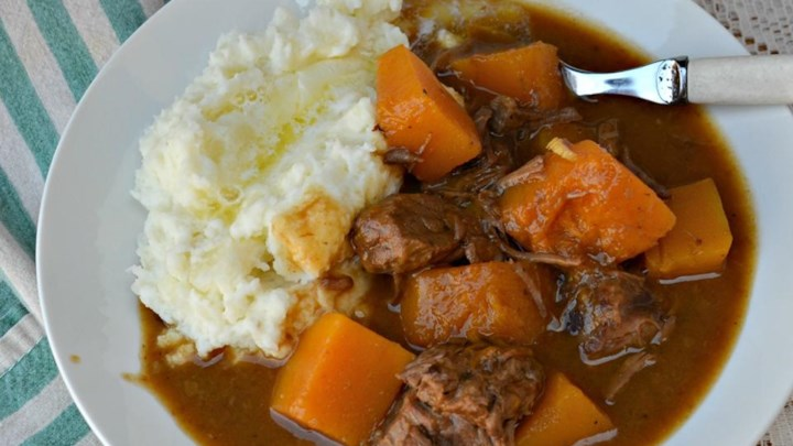 Paleo NO YOLKS Easy Slow Cooker Beef Noodle Stew