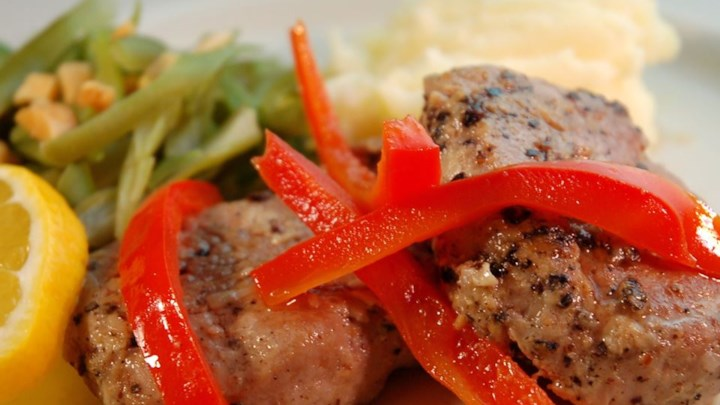 Paleo Portuguese Pork with Red Peppers