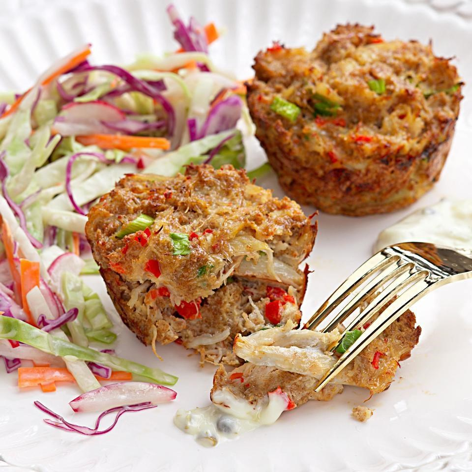 Favorite Crab Cakes Crab Cakes Recipe Eatingwell Muffin Tin Recipes Ground Beef Muffin Tin Recipes Healthy nice food Muffin Tin Recipes