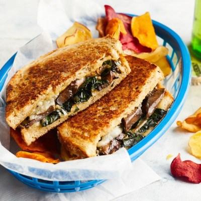 Collards & Portobello Grilled Cheese Recipe - EatingWell