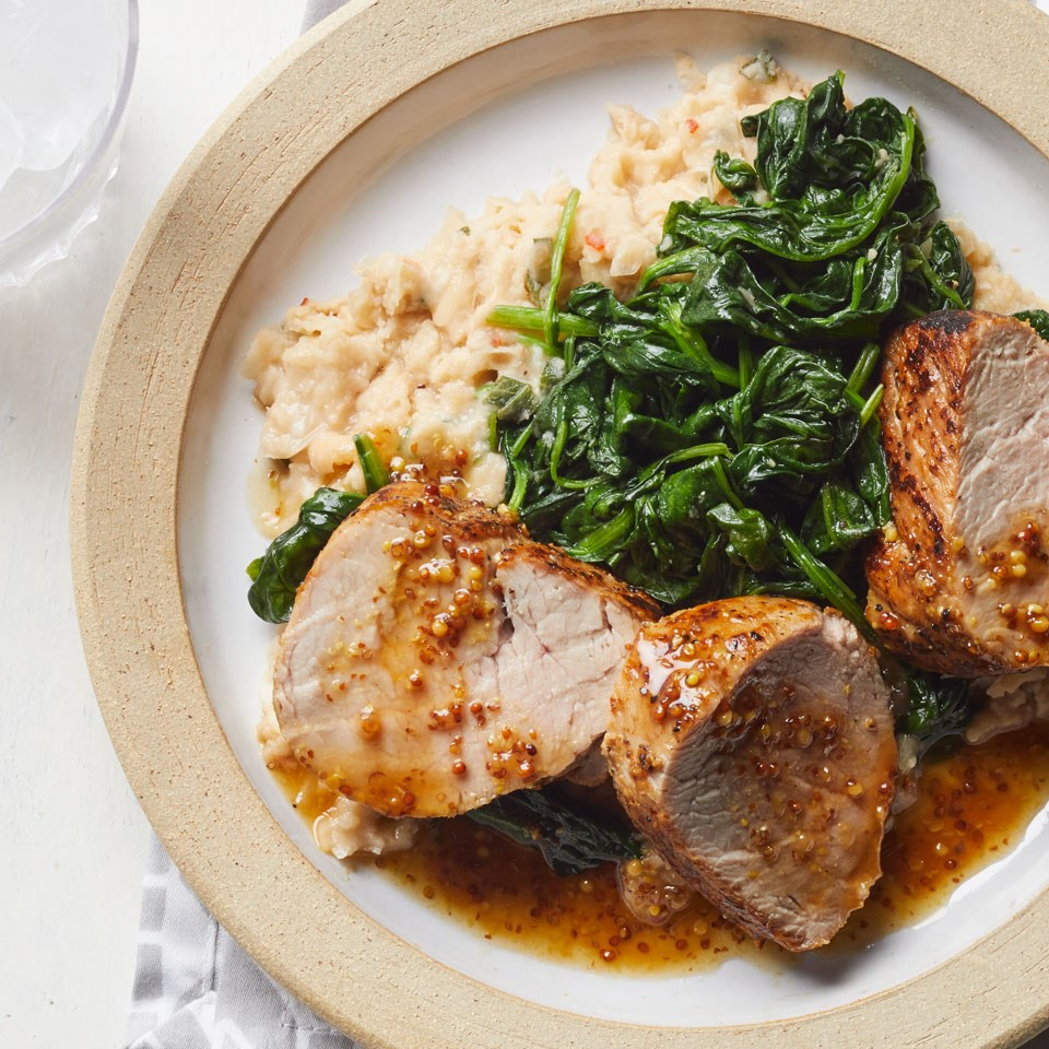 Fulgurant Spinach Smashed Beans Recipe Beans Recipe Emeril Beans Recipe Without Meat Pork Spinach Smashed Beans Pork nice food White Beans Recipe