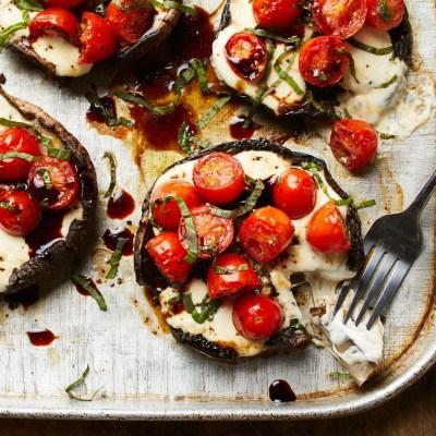 Caprese Stuffed Portobello Mushrooms Recipe - EatingWell