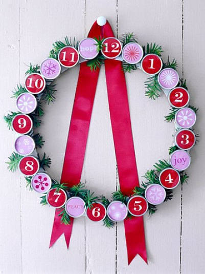 Christmas Countdown Wreath
