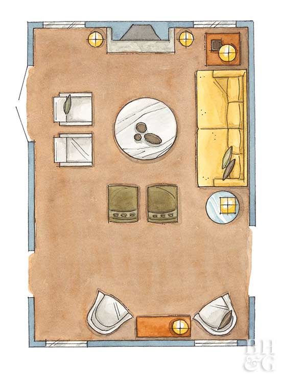living room floor plan, floor plan, furniture arrangement