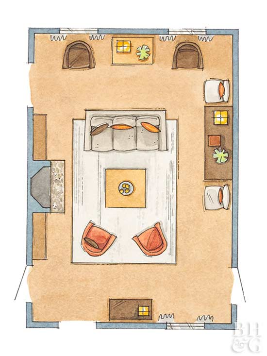 living room floor plan, floor plan