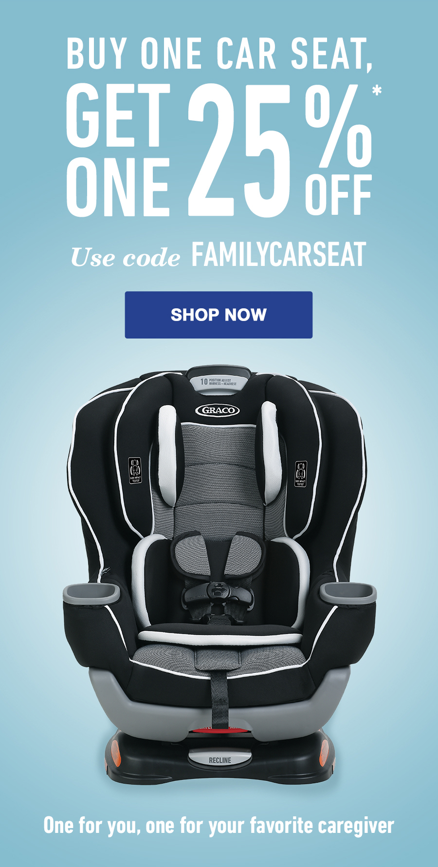 Shapely Receive Off A Second Car Seatof Equal Or Lesser Value Free Car Seat Base Code Familycarseat At Checkout Purchase Infant Carseat Limited Buy One Car Get One Off Milled baby Graco All In One Car Seat