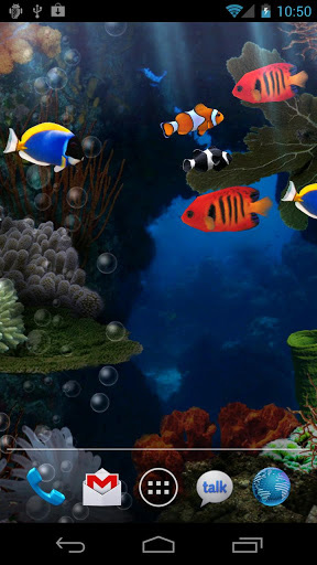 Aquarium live wallpaper for Android. Aquarium free download for tablet and phone.