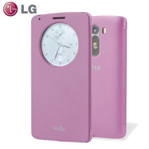 LG G3 QuickCircle Case - Indian Pink