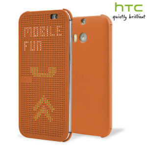 Official HTC One E8 Dot View Case - Orange Popsicle