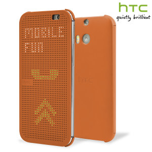 Official HTC One M8 Dot View Case - Orange