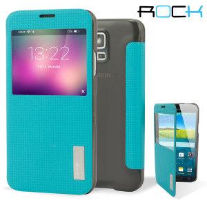 ROCK Elegant Samsung Galaxy S5 Smart View Flip Case - Blue
