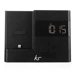 KitSound X-Dock 2 Lightning Connector Clock Radio Dock for iPhone 5
