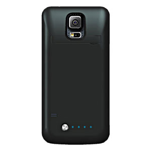Samsung Galaxy S5 Power Bank Flip Case - Black