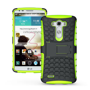 ArmourDillo Hybrid LG G3 Protective Case - Green