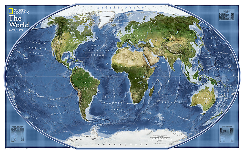 World Explorer Satellite Map