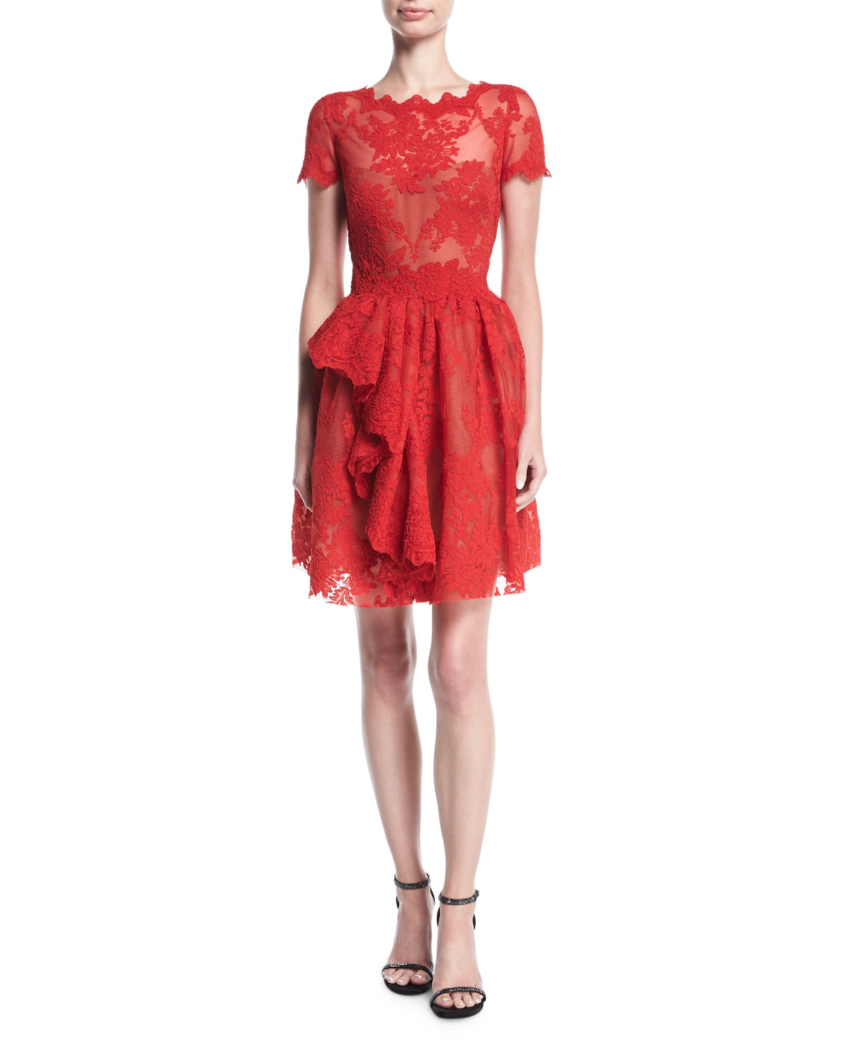 Catchy Quick Marchesa Floral Lace Dress Red Cap Sleeves Dress Neiman Marcus Cap Sleeve Dress Per Cap Sleeve Dress Amazon wedding dress Cap Sleeve Dress