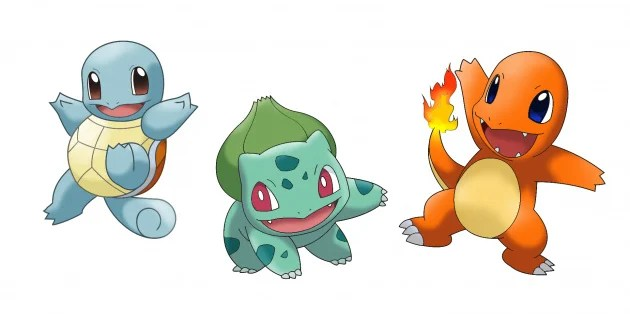 Image result for bulbasaur squirtle charizard