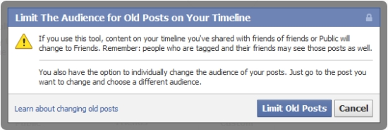 Facebook Timeline Privacy - limit old posts