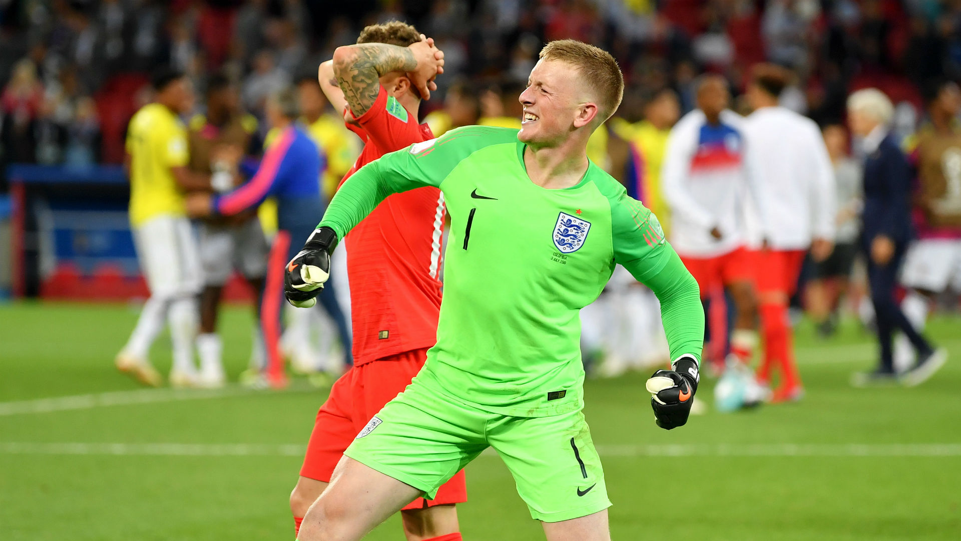England World Cup Penalty Win   I don t care if I m not the biggest     England World Cup Penalty Win   I don t care if I m not the biggest keeper     Pickford hits back at Courtois after heroics   Goal com