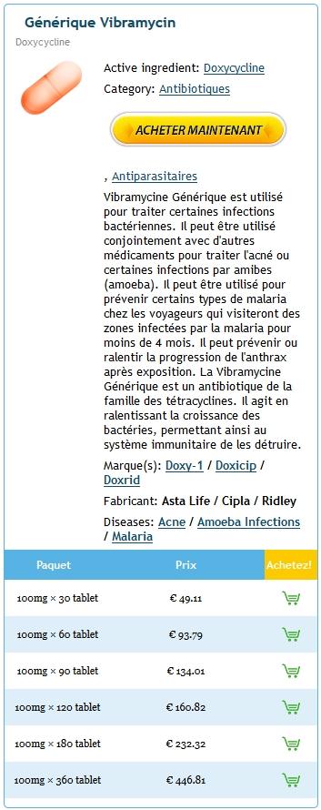 Doxycycline Prix Pharmacie France