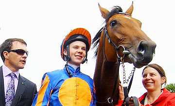 Maybe with Aidan and Joseph O'Brien, Curragh, August 28, 2011