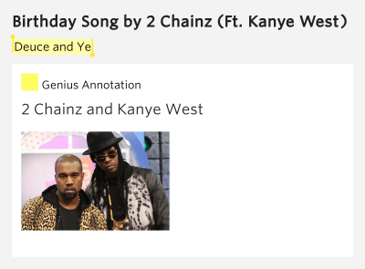 Deuce and Ye – Birthday Song by 2 Chainz