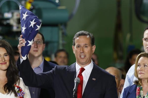Republican Rick Santorum launches second White House run