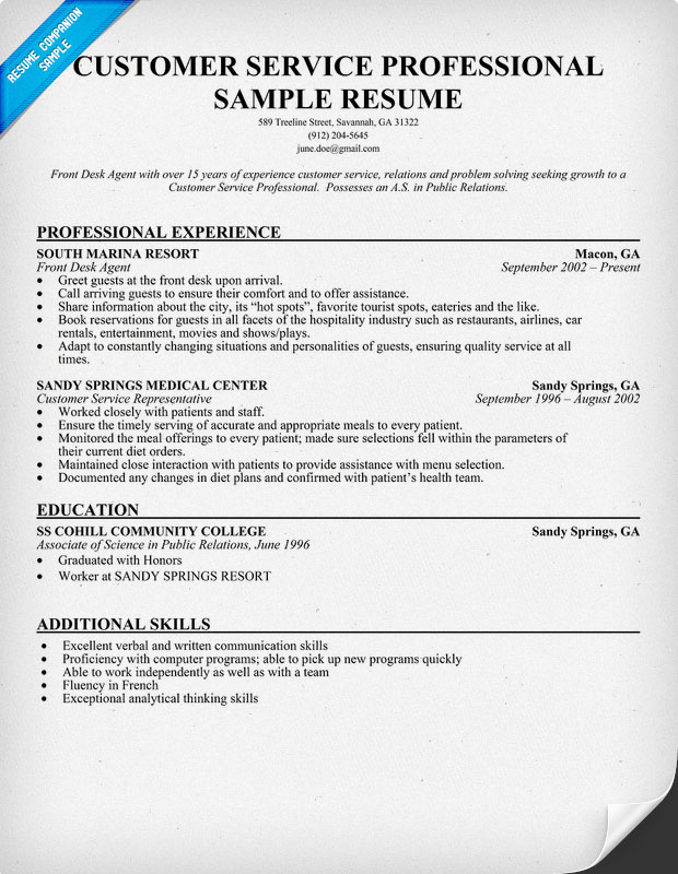 work experience resume artist resume sample artist resume sample - Curriculum Vitae Samples Customer Service