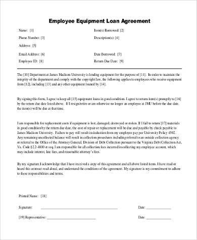 Loan Agreement Form Samples - 8+ Free Documents in Word, PDF