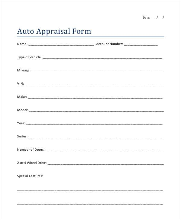Sample Appraisal Forms In Pdf 27 Free Doents